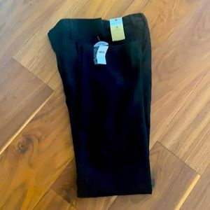GAP straight fit black trousers size 0 NWT